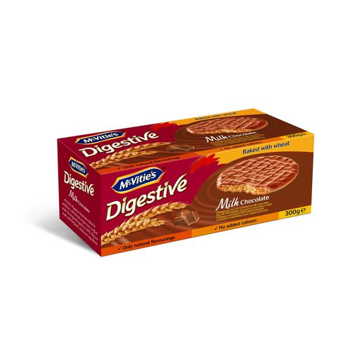 MC VITIÉS galleta digestive con chocolate paquete 300 gr