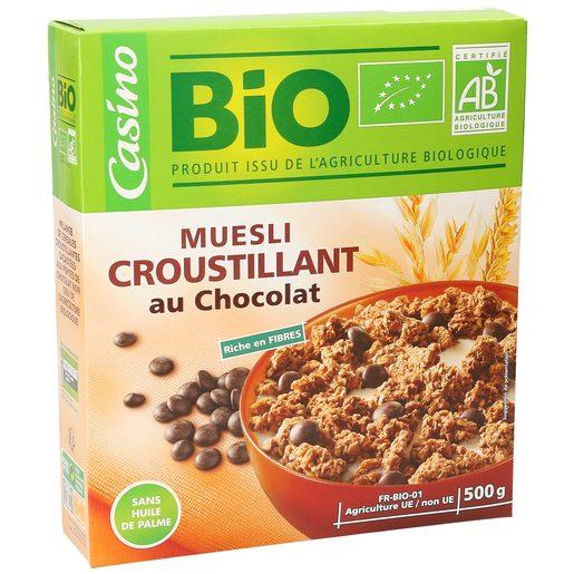 CASINO BIO cereales muesli con chocolate caja 500 gr