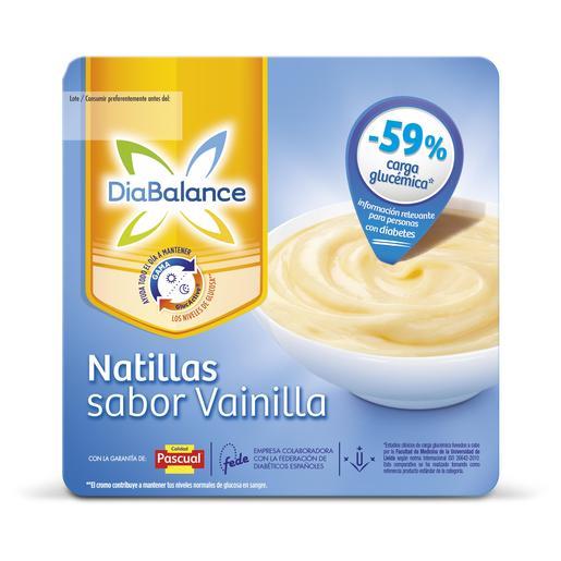 PASCUAL DIABALANCE natillas sabor vainilla pack 4 unidades 100 gr