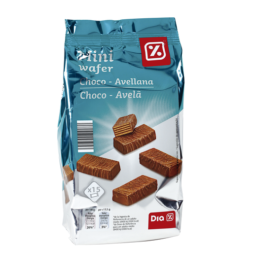 DIA mini wafer choco avellana bolsa 200 gr