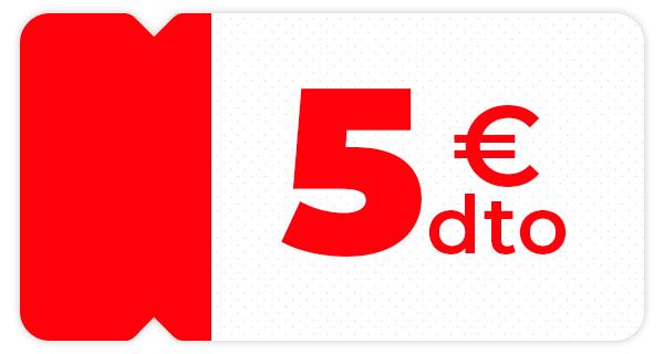 Llévate 5€ en tu compra online con Envío Express