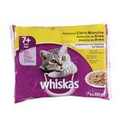 WHISKAS alimento para gatos en gelatina selección aves bolsa 4 x 100 gr