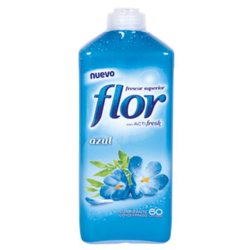 FLOR suavizante concentrado azul botella 60 lv