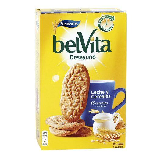 FONTANEDA Belvita desayuno galletas cereales integrales y leche caja 400 gr