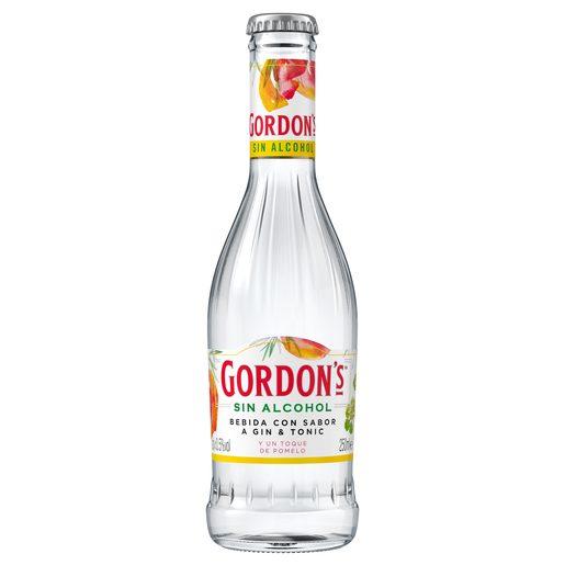 GORDONS ginebra sin alcohol con un toque de pomelo botella 25 cl