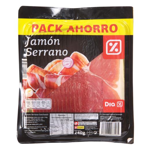 DIA jamón serrano sobre 240 gr