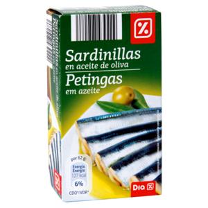 DIA sardinillas en aceite de oliva lata 62 gr