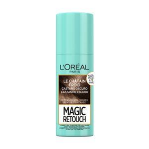 MAGIC RETOUCH tinte castaño oscuro retoca raíces instantáneo spray 75 ml