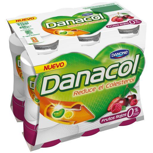DANONE DANACOL yogur líquido frutos rojos pack 6 unidades 100 gr