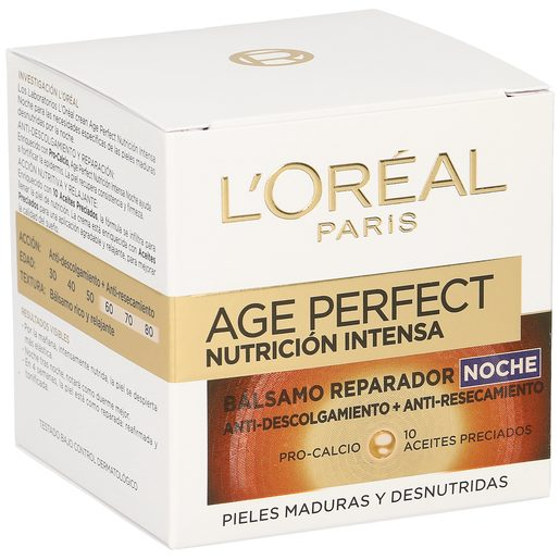 L'OREAL Age perfect crema facial de noche nutrición intensa tarro 50 ml
