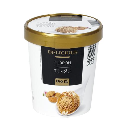 DIA DELICIOUS helado turrón de jijona tarrina 330 gr