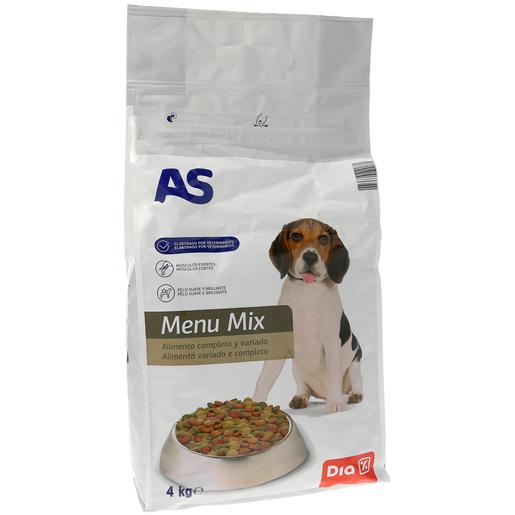 AS alimento para perro menú mix completo y variado bolsa 4 kg