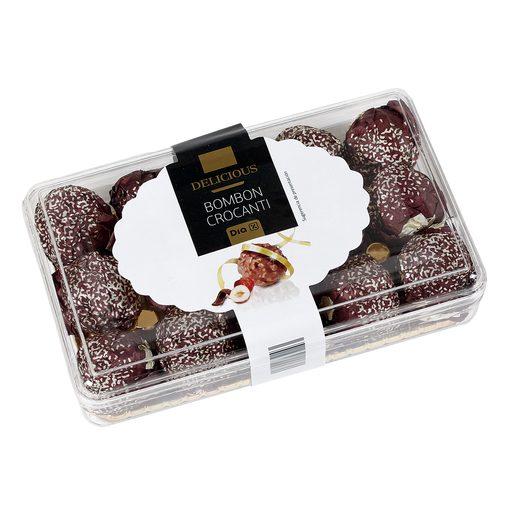 DIA DELICIOUS bombón chocolate crocanti con avellanas 200 gr
