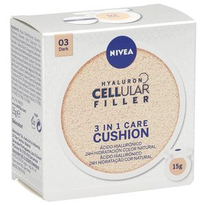 NIVEA Cellular hyaluron filler crema con color 3 en 1 tono oscuro 15 gr