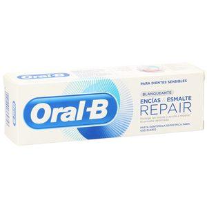 ORAL B pasta dentífrica repair blanqueante tubo 75 ml