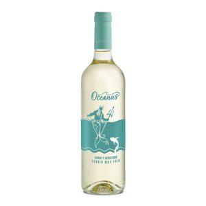 OCEANUS vino blanco suave y afrutado botella 75 cl