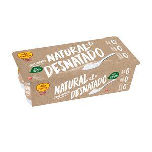 REINA yogur natural desnatado triple cero pack 8 uds 125 gr