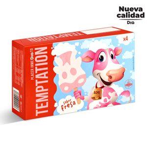 DIA TEMPTATION helado de nata y fresa caja 4 uds 180 gr