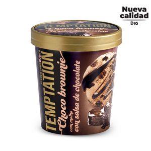 DIA TEMPTATION helado choco brownie con salsa de chocolate tarrina 350 gr