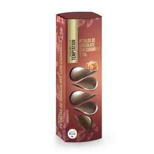 DIA TEMPTATION pétalos de chocolate con caramelo y sal caja 150 gr