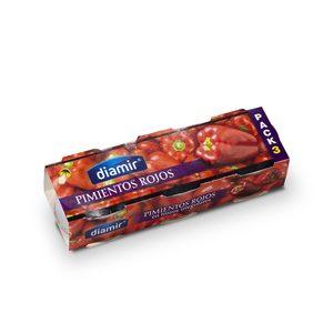 DIAMIR pimientos rojos pack 3 latas de 60 gr