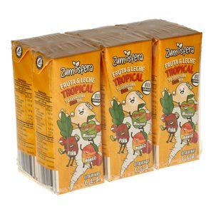 DIA ZUMOSFERA bebida de frutas con leche tropical pack 6 unidades 200 ml