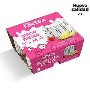 DIA LACTEA queso fresco 0% M.G pack 4 uds x 62,5 gr
