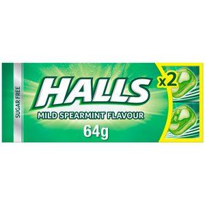 HALLS caramelo sabor hierbabuena paquete 2 uds 64 gr