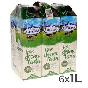 ASTURIANA leche desnatada envase 1 lt PACK 6