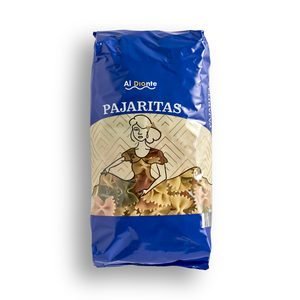 DIA AL DIANTE pasta de lazos tricolor paquete 500 gr