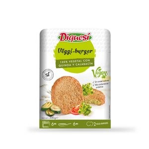 DIQUESI hamburguesas veganas de calabacín y quinoa bandeja 200 gr