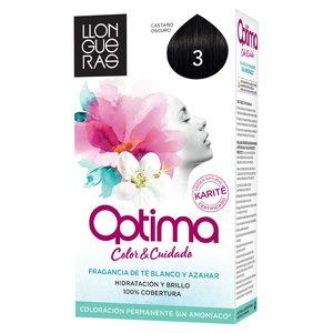 LLONGUERAS OPTIMA tinte Castaño Oscuro Nº 3 caja 1 ud