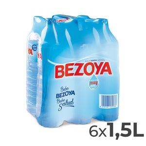 BEZOYA agua mineral natural botella 1.5 lt PACK 6
