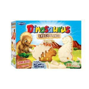 ARTIACH Dinosaurus galletas de cereales con chocolate blanco caja 352 gr