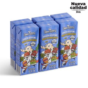 DIA ZUMOSFERA bebida de frutas con leche mediterráneo pack 6 unidades 200 ml