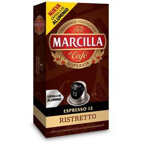 MARCILLA café extra fuerte 10 cápsulas caja 50 gr