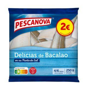 PESCANOVA delicias de bacalao bolsa 250 gr