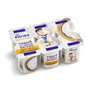 DIA FIDIAS yogur griego natural azucarado pack 6 unidades 125 g